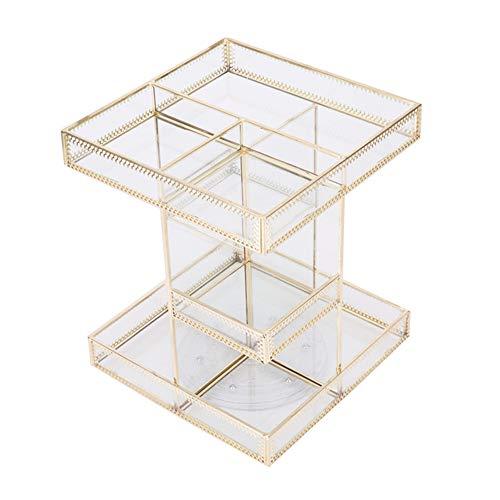 Storage Box Boîte de Rangement cosmétique,Présentoir cosmétique Transparent de Parfum de Soin de Peau de Rotation de 360 °,Convient pour Les coiffeuses, Les Chambres et Les salles de Bain