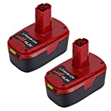 2-Pack 5000mAh 19.2V Lithium Battery Replacement for Craftsman 19.2 Volt Battery Lithium ion C3 XRP 315.115410 315.11485 130279005 1323903 120235021 11375 11376 315.PP2011