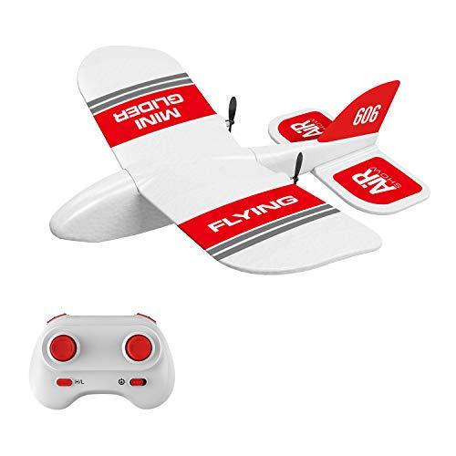 Goolsky KF606 Avión RC 2.4G Volando Aviones para Principiantes EPP Foam Glider Avión de ala Fija RTF Foam Plane Control Remoto Gliding Aircraft Modelo Juguetes Regalos para Niños(1 Batería)