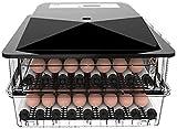 Incubatrice automatica for le uova 56-104 digitale con Holder Egg, titolare di umidità di temperatura di controllo e coltello automatico di rotazione for piccoli volatili Ovulators, Bianco lucar