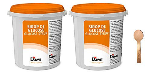 Caullet Glucose Syrup - 2.2 lb (Pack of 2) Bundle with PrimeTime Direct Spoon in a PTD Sealed Bag