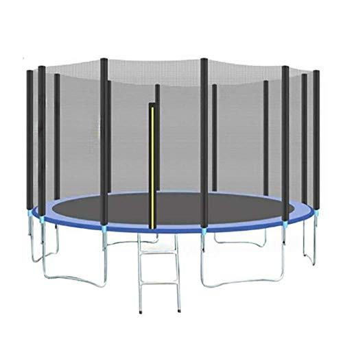 TBTBGXQ Kids Trampoline, Outdoor Sports Trampoline with Safety Enclosure Net and Ladder, Padded Net Posts and Edge Cover Jumping Trampolin (10Ft/12Ft/14Ft/16Ft),16Ft