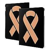 liusizheree Cinta de cáncer uterino de durazno Funda para iPad (10.2 Pulgadas), Carcasa con Auto-Sueño/Estela