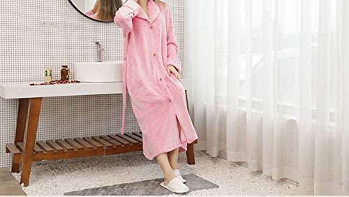 Buyall Warm-Flanell-Nachthemd für Paare im Winter, lose übergroße...