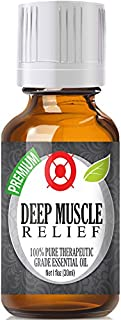 Deep Muscle Relief Essential Oil Blend - 100% Pure Therapeutic Grade Deep Muscle Relief Blend Oil - 30ml