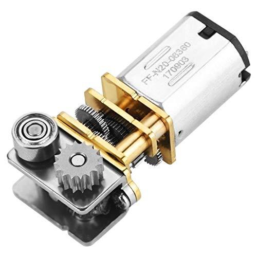 Chenweiwei LCuiling-Getriebemotor Right Winkel Metallgetriebe Micro-Getriebemotor, für 3D-Druckstift DC-Motor, DC 12V 11RPM N20, Hohe Energie