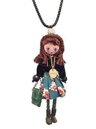 Halskette Puppe mit Kleid (Coral) Tiffany