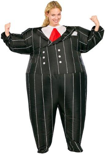 Playtastic Kostüm aufblasbar: Selbstaufblasendes Kostüm Gentleman (Selbstaufblasende Karneval-Kostüme)