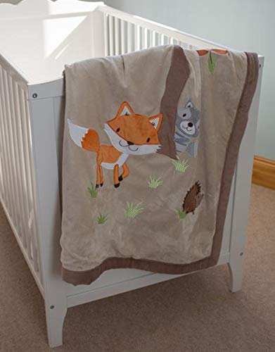 Reversible Fox Baby Quilt