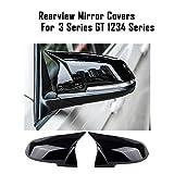 Paire Couverture de miroir Bat Mirror Cover Cover Miroir Couvre-boîtiers Glossy Black Fit pour BMW...