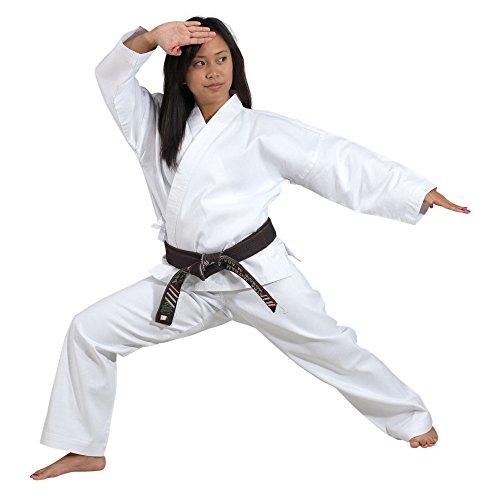 of martial arts uniforms Karate Uniform Medium Weight White 100% cotton