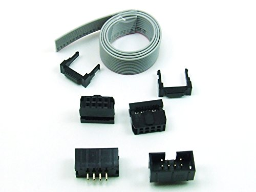 POPESQ® - IDC KIT 8 polig/pin + 30 cm Flachbandkabel Ribbon cable Buchse Stecker Header #A158