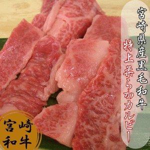 宮崎県産黒毛和牛 特上カルビー(あみ焼き風)100g