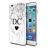 Personalised Marble Hard Phone Case Cover For Apple Samsung & Various Models (Design 02) For Apple iPhone 6/6s