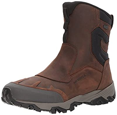 "Merrell Men's COLDPACK ICE+ 8"" Zip Polar Waterproof Snow Boot, Brown, 10.5 M US"