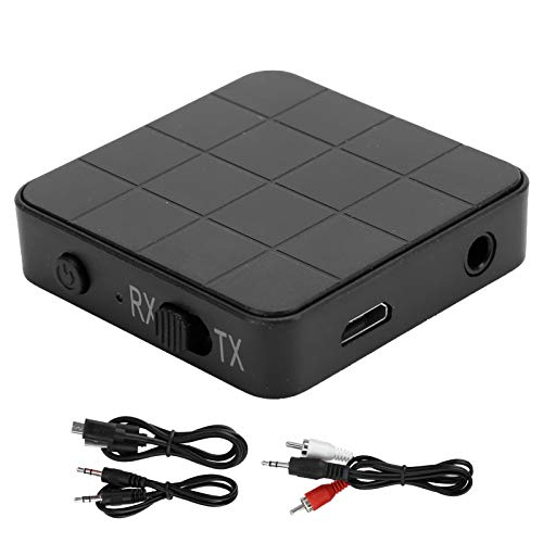 Receptor Transmisor Bluetooth Inalámbrico, KN321 2-en-1 USB TV PC 3.5mm Bluetooth 5.0 para TV/Sistema de Sonido Hogar, Adaptador de Audio Estéreo para Automóvil