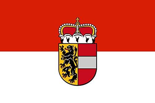 DIPLOMAT Flagge Salzburg | Querformat Fahne | 0.06m² | 20x30cm für Flags Autofahnen