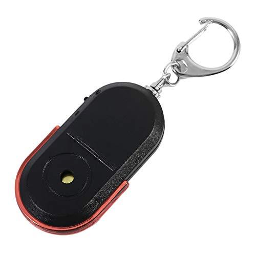 Buscador de Llaves de Alarma antipérdida de tamaño portátil para Personas Mayores, inalámbrico, útil, Sonido de silbido, localizador de luz LED, Llavero