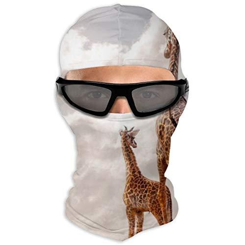 N/A Full Face Beschermende film Moeder Giraffe En Zes Week Oude Baby Hood Zonnebrandcrème Dual Layer Koud Voor Mannen En Vrouwen