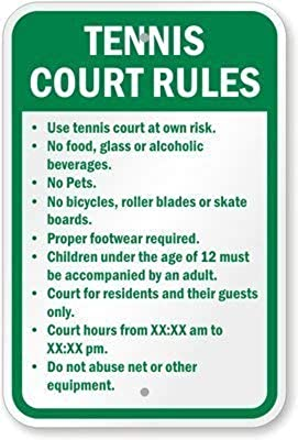 Vinmea Skate Park Rules Skate At At Your Own Risk Sicherheitsschild Straßenschild 12x16