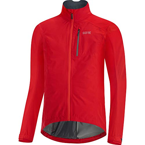 GORE WEAR Men's Cycling Jacket, GORE-TEX PACLITE, L, Red