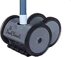 The Hayward Poolvergnuegen 4-Wheel Suction PoolCleaner features patented self-adjusting turbine vanes that deliver maximum power at any flow and allow passage of large debris 4-wheel drive cleans larger pools or pools with deep ends up to 20' x 40' P...