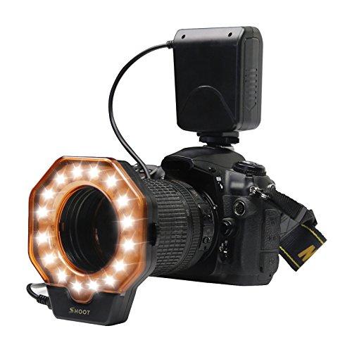 SHOOT XT-103C Macro LED de Luz de Flash de Anillo para Canon 5D Mark III 5D Mark II 650D