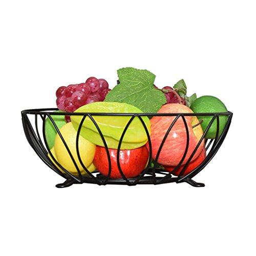 ZHENYANG Canasta De Frutas De Hierro Forjado Frutero Decoración De Salón Simple Adorno