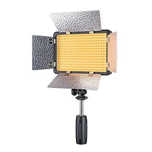 Godox LED308W II Tragbares LED-Videostudio-Licht, dimmbares 5600K-Weißlicht mit Fernbedienung und Barndoor, Batterie und Gleichstrom für Außen- und Innenaufnahmen