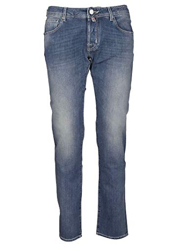 Jacob Cohen Luxury Fashion Uomo J622COMF01380W3003 Blu Elastan Jeans   Stagione Outlet