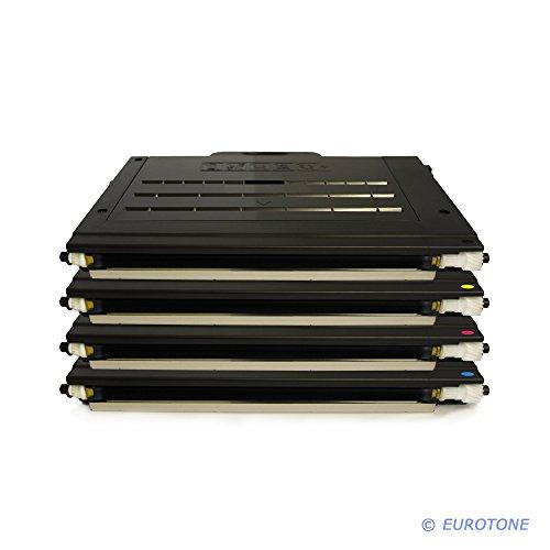 4er Set Eurotone Toner Cartridge für Samsung CLP-500 CLP-510 CLP-515 CLP-550 Serie - CLP 500 500A 500G 500N 500NA 500R 510 510N 515 550 550G 550N - Black Schwarz + Cyan + Magenta + Yellow Gelb
