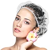 Shower Cap Disposable 120 Pcs Thickening Large Elastic Thick Bath Cap For Women Spa,Hotel,Home Use,Portable Travel and Hair Salon By BAbuGIG (120 Count)