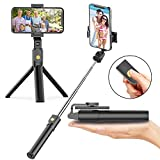 Selfie Stick Tripod with Bluetooth Wireless Remote, 3 in 1...
