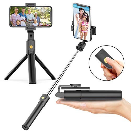 Selfie Stick Tripod with Bluetooth Wireless Remote, 3 in 1 Extendable Selfie Stick with Tripod Stand for iPhone 11/11 Pro/11 Pro Max/X/XR/XS/XS MAX/8/8 Plus/7,Galaxy S10/S9 Plus/S8 Plus/Note 10/8
