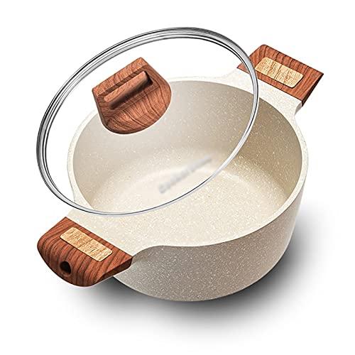 Utensilios de cocina al vapor Pottine, olla de cocina multifunción/olla de piedra antiadherente (20/24 / 28cm), para 1-8 personas, para cocina de gas/cocina de inducción Charola para hornear
