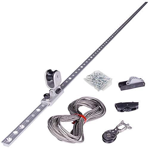 Toldoro Höheneinstellung Set für Sonnensegel für Masten, Stangen und Holzpfosten (mit Nieten für Stahl- und Edelstahlrohre)
