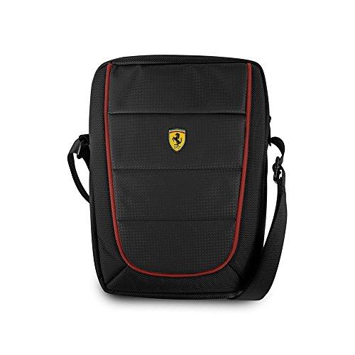Ferrari Umhängetasche für iPad, Samsung Tablet, 25,4 cm (10 Zoll), Nylon-Karbonfaser-Design