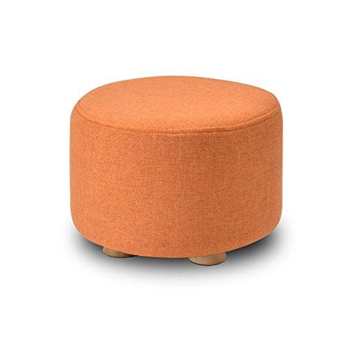 Tabouret rond rembourré en bois repose-pieds repose-pieds Tabouret d'enfant repose-pieds petit fauteuil orange (Couleur : #1)