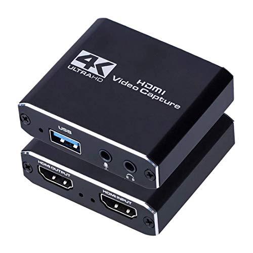 Motyy Tarjeta de Captura de Video HD Tarjeta de Captura USB Juego TransmisióN en Vivo MicróFono OBS Caja de GrabacióN de TransmisióN en Vivo 4K