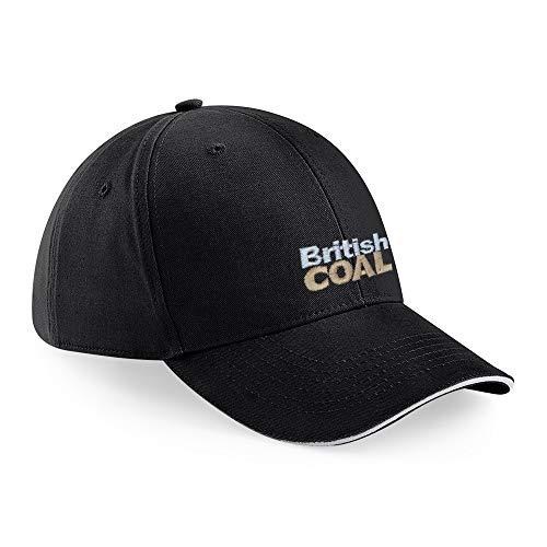 45REVS British Coal Baseball Cap aus Baumwolle, Baseball Cap Unisex Baseball Caps mit Stickerei. Schwarz