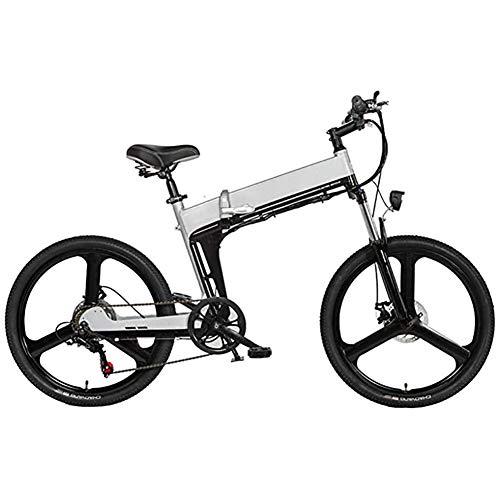 WXX Portátil eléctrica Plegable Bicicleta de montaña, Bicicleta eléctrica de 24 Pulgadas...