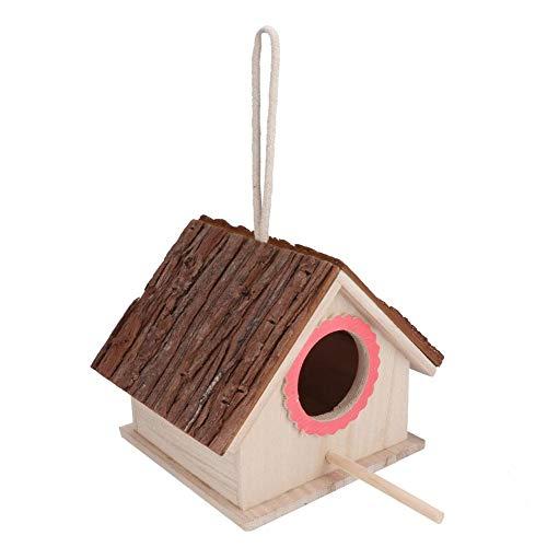Zerodis Vogelzuchtkasten, hölzernes kleines Haustiervogelnesthaus Haustiere Zuchtkasten Käfigzubehör Vogelnestfütterungsstationshaus