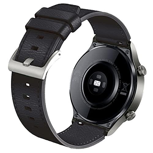 FunBand Correa Compatible con Huawei Watch GT2 Pro, Correa de Pulsera de Cuero Bandas Correa de Repuesto de 22 mm para Huawei Watch GT2 Pro/Watch GT2 46mm / Huawei Watch 3 / Huawei Watch 3 Pro
