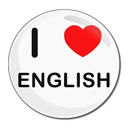 I Love English - Miroir compact rond de 77 mm