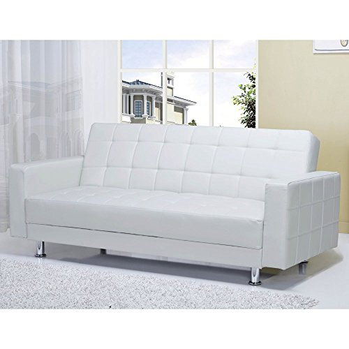 Gold Sparrow Frankfort Convertible Loveseat, One size, Whtie