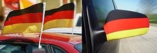 Deutschland WM/ EM FAN SET: Außenspiegel Fahne und Autoflagge