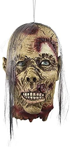Decoración De Horror De Halloween, Colgantes De Cabeza De Cabeza De Fantasma Cortada Sangrienta Con Peluca, Decoración De Barras De Látex Realista De Miedo,A