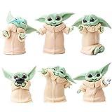 Nesloonp Baby Yoda Figuras 6 PCS Mini Juego de Figuras Decoración para Tartas Adornos de Star Wars D...