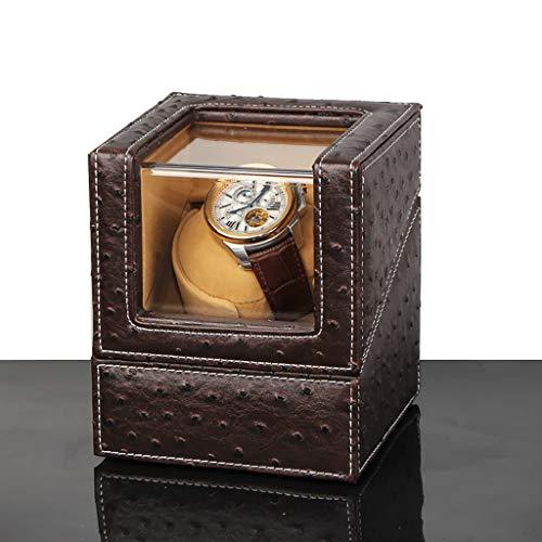 Caja Giratoria para Relojes Enrollador automático de un solo reloj de madera con 5 modos de rotación y un motor silencioso, adecuado for damas y caballeros, caja de almacenamiento de la caja de almace