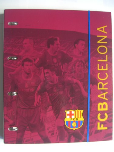 FC BARCELONA A4 4 Ring Binder/map inclusief 120 A4 vellen